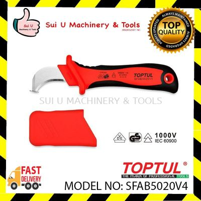 Toptul SFAB5020V4 45mm VDE Insulated Cable Knife with Hooked Blade