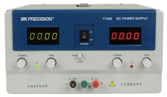 4 Digit Display DC Power Supply (0-35V, 0-6A) Model 1743B