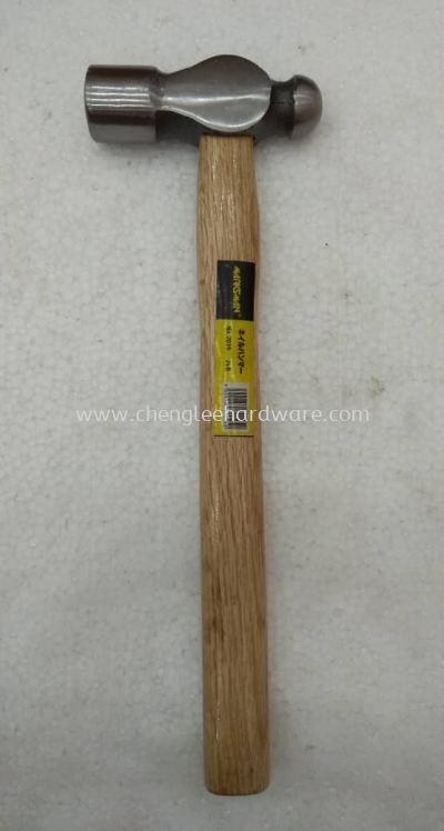 004161 2LBS BALL PEIN HAMMER WITH WOODED HANDLE
