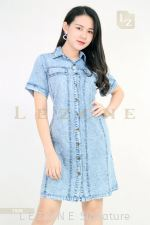 1508 DENIM BUTTON DRESS