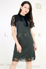 6568 LACE CONTRAST DRESS