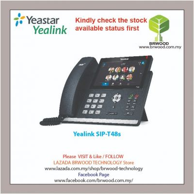 YEALINK SIP-T48s: IP SIP PHONE WITH A 7-inch TOUCH SCREEN