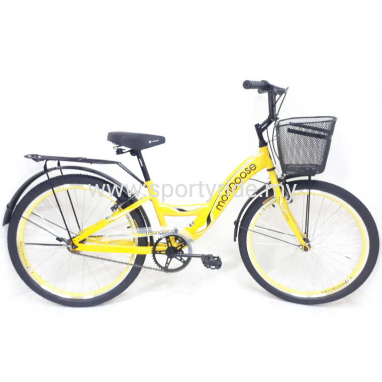 "24"" City Bike Mongoose 24 inch City Bike Leisure Ride Bike"