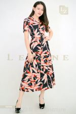 10750 PRINTED FLORAL MAXI DRESS 【1ST 10% 2ND 15% 3RD 20%】