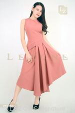 MF800627 LEANN MIDI PLEATED DRESS