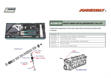 VALVE TIMING INSTALLER & REMOVER TOOLS KIT P/N: AI10001SP