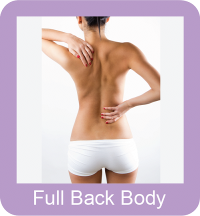 Permanent hair removal full back body
