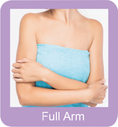 Permanent hair removal full arm