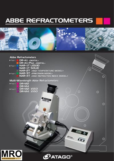 ATAGO Abbe Refractometers - DR & NAR Series