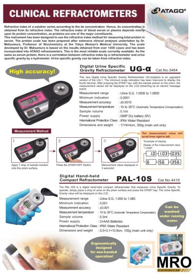 ATAGO Urine Refractormeter - Clinical