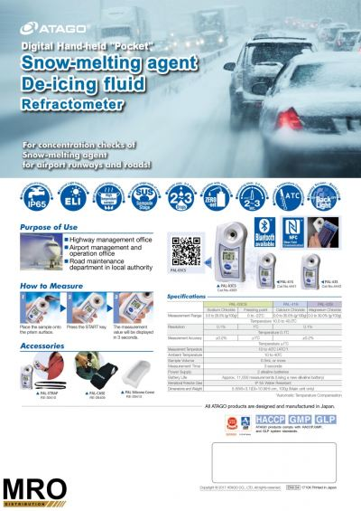 ATAGO Pocket Refractometer - Snow Melting Agent