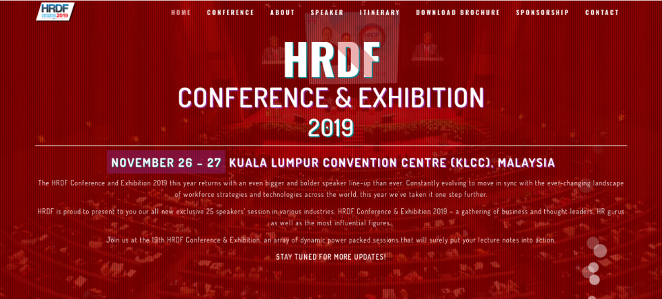 The HRDF Conference and Exhibition 2019  November 2019