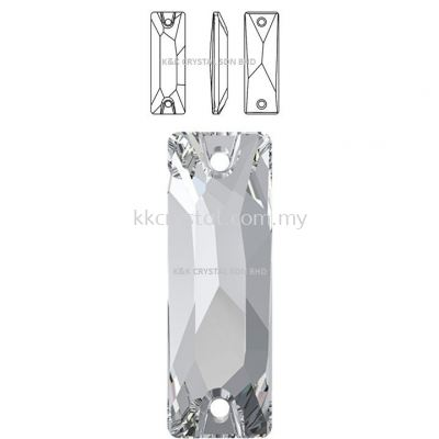 SWAROVSKI, COSMIC BAGUETTE SEW-ON STONE, 3255#, 18*6MM, 001 Crystal