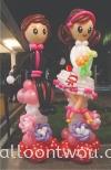Bride & Groom Balloon Sculpture