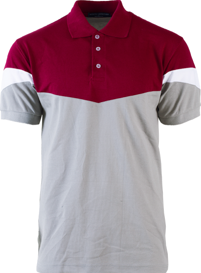 NHB 2901 Maroon-Charcoal-White
