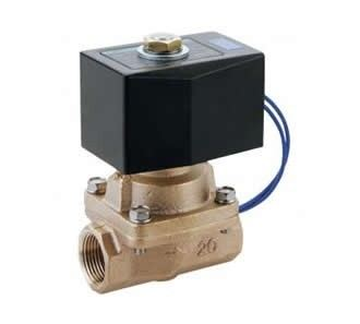Pilot kick 2-port solenoid valve for steam (SPK)