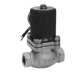 Pilot kick 2-port solenoid valve for steam (PKS)
