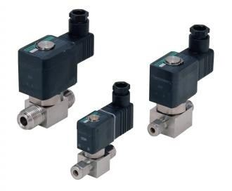 Solenoid valve for high vacuum (HVB)