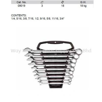 09019 - Pc SAE Combination Wrench Set