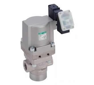 Air operated 3-port valve for medium and high pressure (coolant valve) CVE3/CVSE3