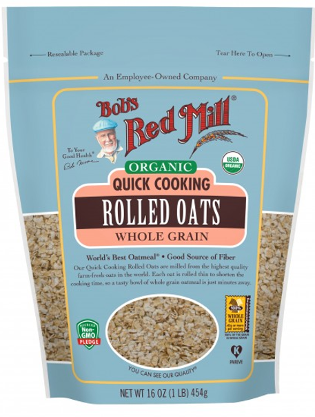 Organic Quick Cooking Rolled Oats 454g