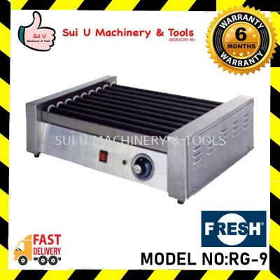 FRESH RG-9 0.9kW/230V/50Hz 50-250�� 9 Roller Hot Dog Roller Snack Equipment
