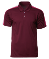 CRP 1604 Maroon-Heliconia-White Racer Polo CRP 1600 CrossRunner Dry Fit Polo Shirt