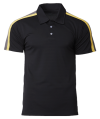 CRP 1605 Black-Daisy-Charcoal Racer Polo CRP 1600 CrossRunner Dry Fit Polo Shirt