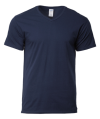 63V00 32C Navy Cotton Round Neck Tee