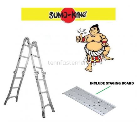 XE-12 STEP MULTIPURPOSE LADDER WITH STAGING BOARD