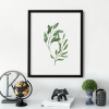 Watercolour Green Leaves  Wall Decor Poster