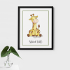 Safari Giraffe Wall Decor Poster