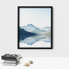 Watercolour Blue Mountain Wall Decor Poster