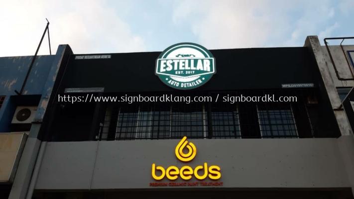 Estellar Beeds 3D Led conceal box up 3D lettering aignage At usj subang jaya