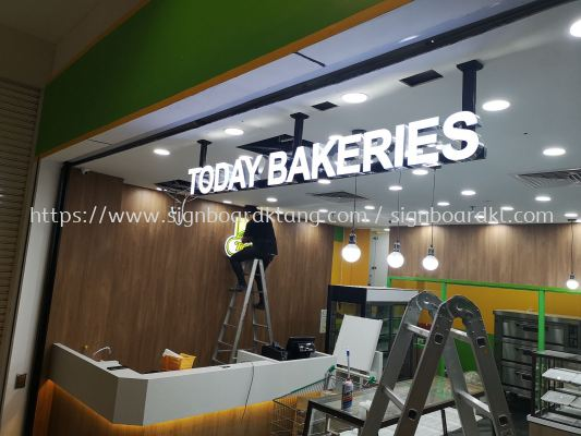 today Bakeries 3D LED channel box up lettering signage at Giant shooping mall Usj Subang jaya