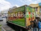 Ahimsa Lorry truck box inkjet sticker at klang TRUCK LORRY STICKER