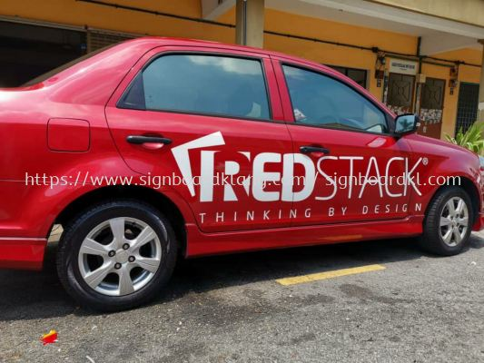 Red stack Sticker vehicles Car sticker at klang