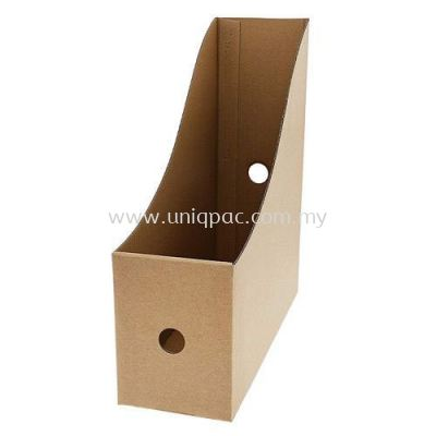 Brown Paper Magazine File Box