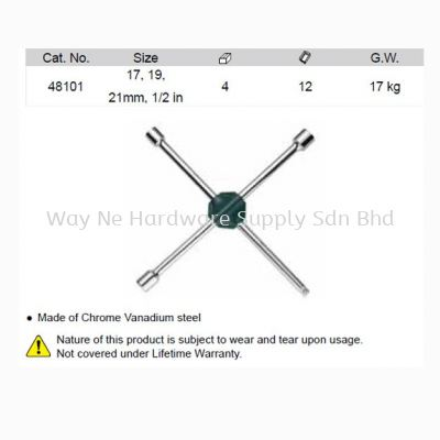 48101 - Cross Wheel Wrench