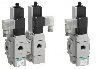 3-port solenoid valve with spool position detection (SNP)