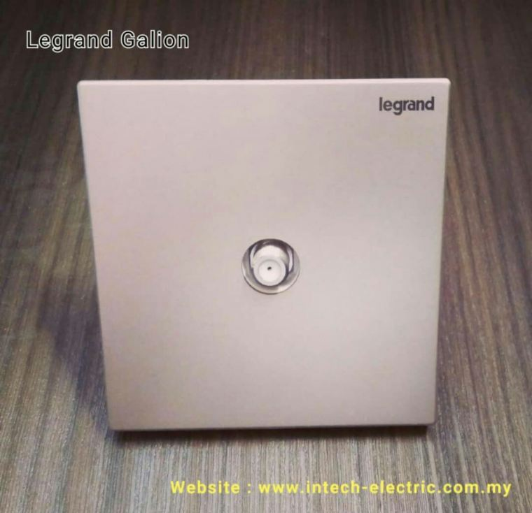 LEGRAND GALION 282449-C2 TV SOCKET - CHAMPAGNE(SILVER BAR) Legrand Galion Series Switcher