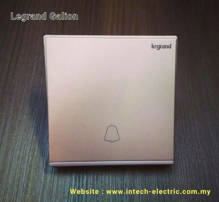 LEGRAND GALION 282411-C2 1GANG BELL SWITCH - CHAMPAGNE(SILVER BAR) Legrand Galion Series Switcher