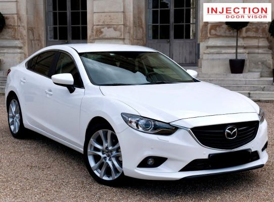 MAZDA 6 SEDAN 13Y-ABOVE = INJECTION DOOR VISOR WITH STAINLESS STEEL LINING
