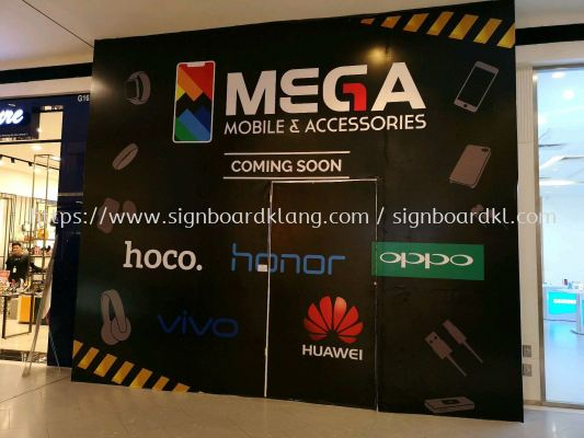 Mega Mobile Accessories Shopping Mall hoarding board at kota damansanra