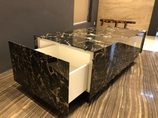 Marble Coffee Table With Cabinet