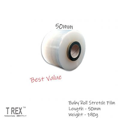 50mm x 190g - Baby Roll Stretch Film