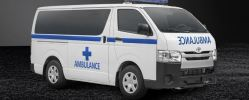 AMBULANCE TYPE TRANSFER TOYOTA HIACE SEMI PENAL LOW ROOF                                      KENDERAAN  AMBULANS  AMBULAS -AMBULANCE