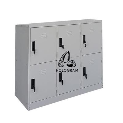 HALF HEIGHT 6 DOOR STEEL LOCKER