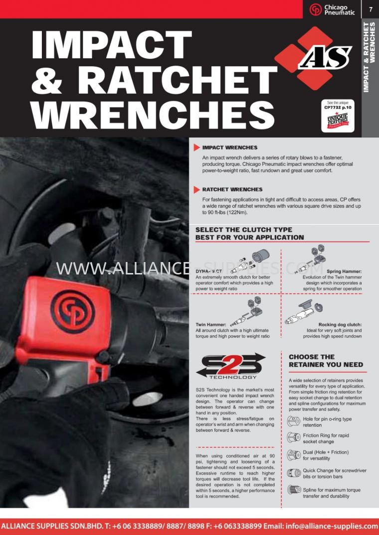 6.02.1 CP Impact & Ratchet Wrenches 9.02.1 CP Impact & Ratchet Wrenches 9.02 CP Vehicle Range 09.CHICAGO PNEUMATIC