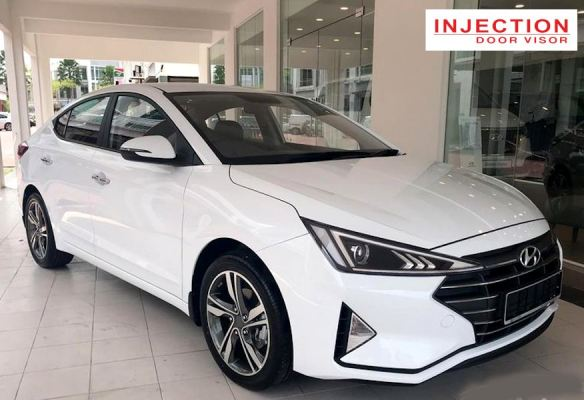 HYUNDAI ELANTRA / AVANTE 17Y-ABOVE = INJECTION DOOR VISOR WITH STAINLESS STEEL LINING